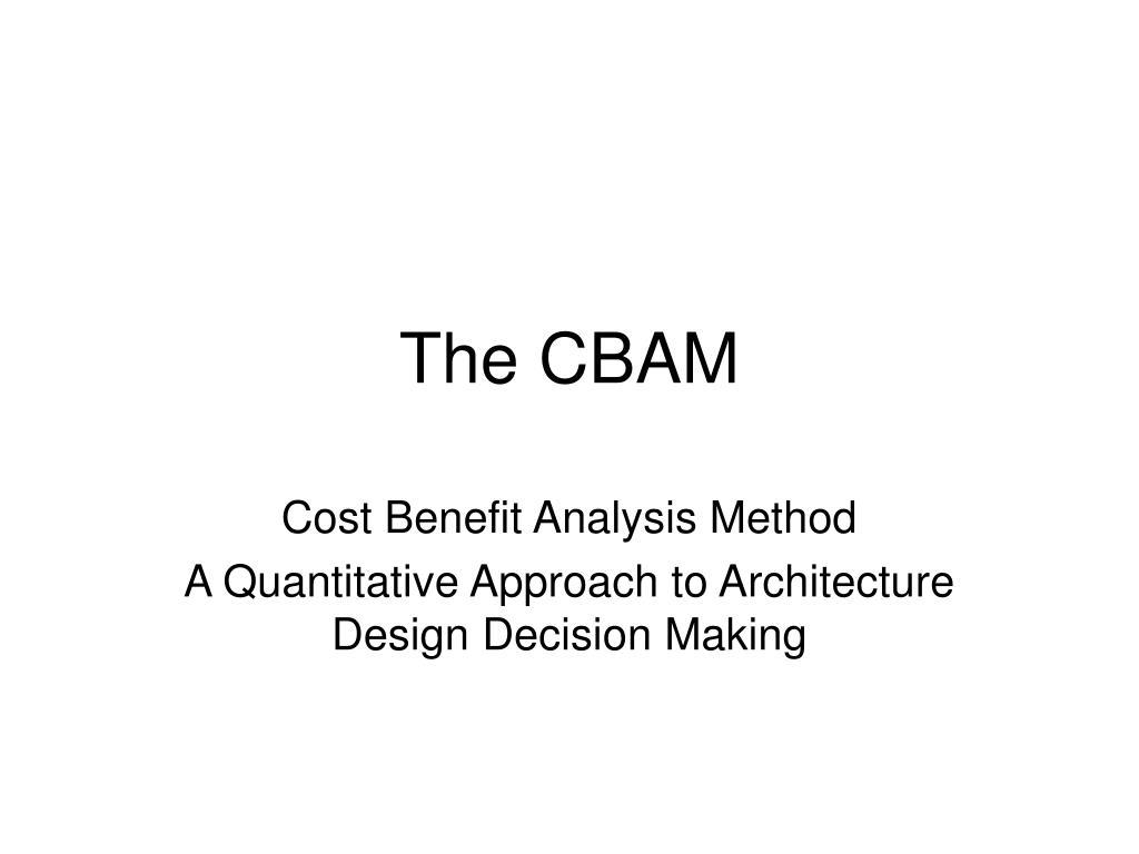 the cbam l.
