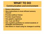 what to do communication and environment