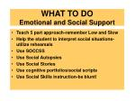 what to do emotional and social support