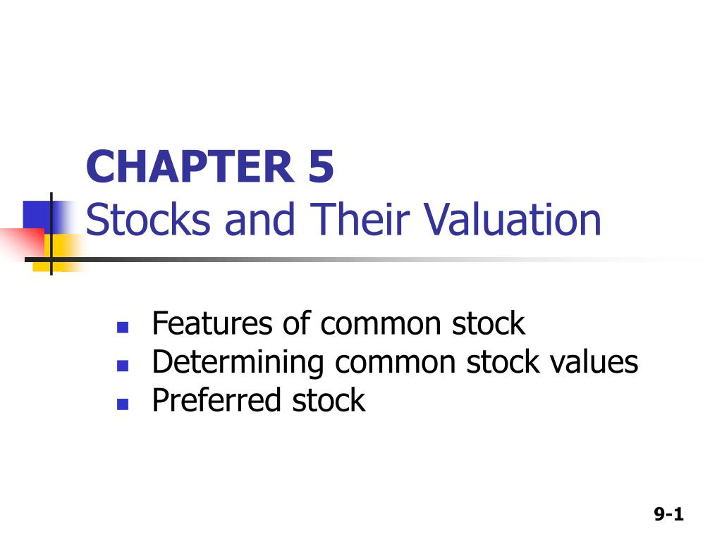 chapter 5 stocks and their valuation l.