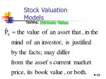 stock valuation models15