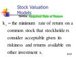 stock valuation models17