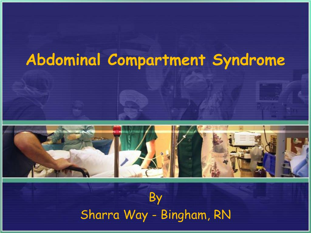 abdominal compartment syndrome l.