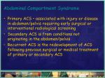 abdominal compartment syndrome12