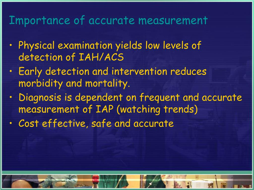 Importance of accurate measurement