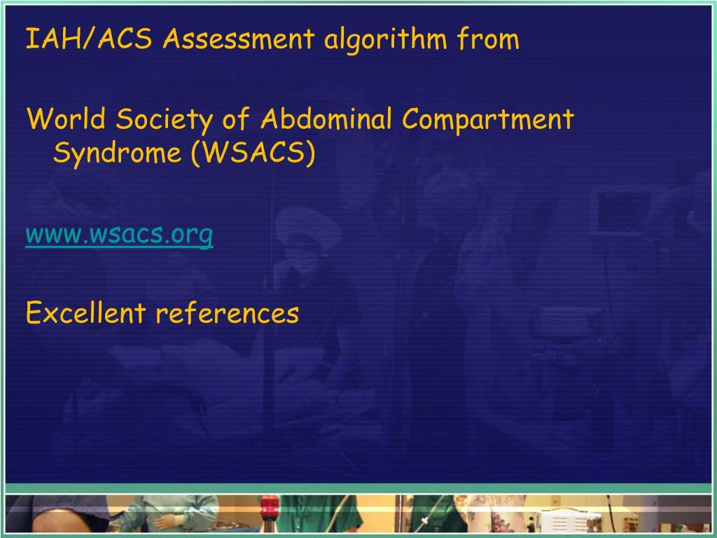 IAH/ACS Assessment algorithm from