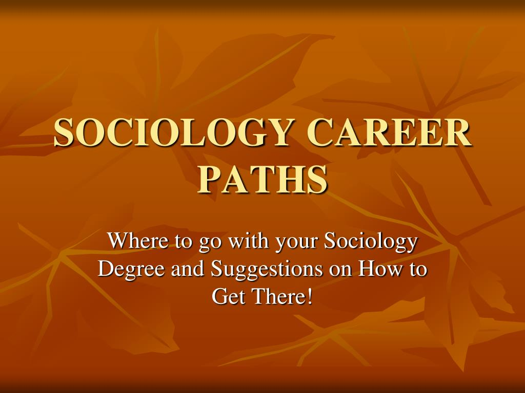 sociology career paths l.