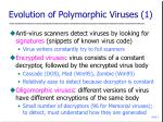 evolution of polymorphic viruses 1