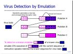 virus detection by emulation