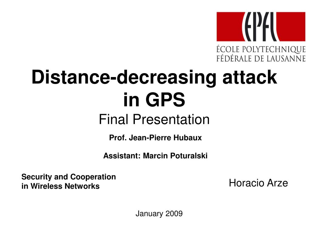 distance decreasing attack in gps final presentation l.