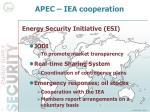apec iea cooperation