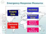 emergency response measures