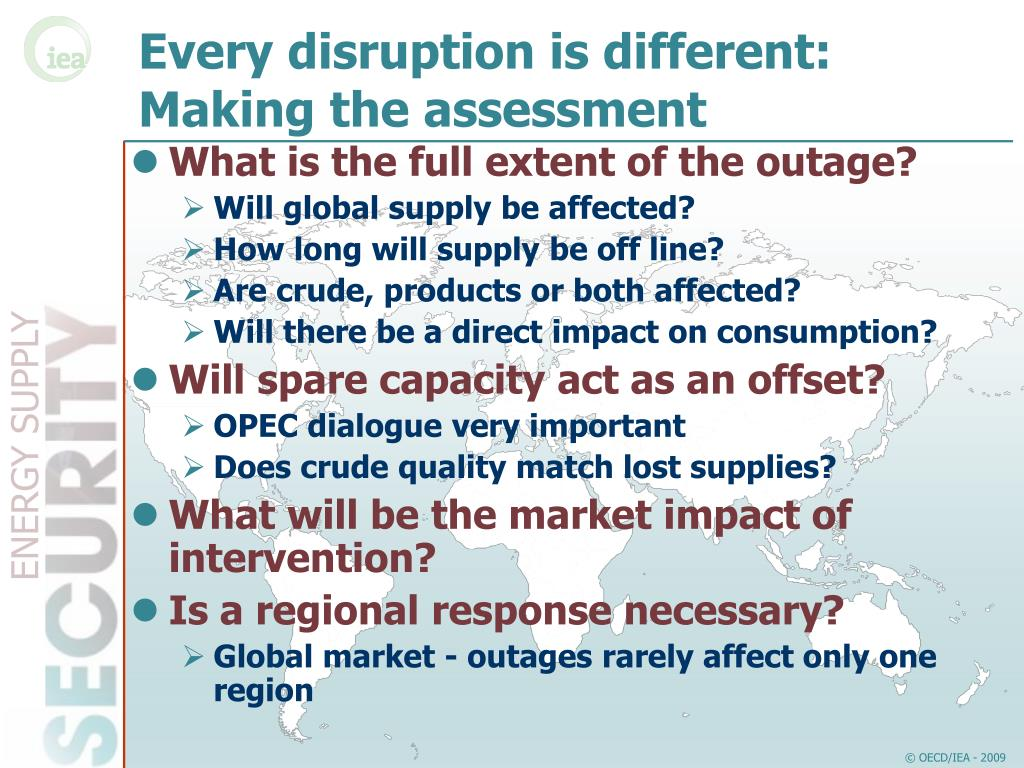 Every disruption is different: Making the assessment