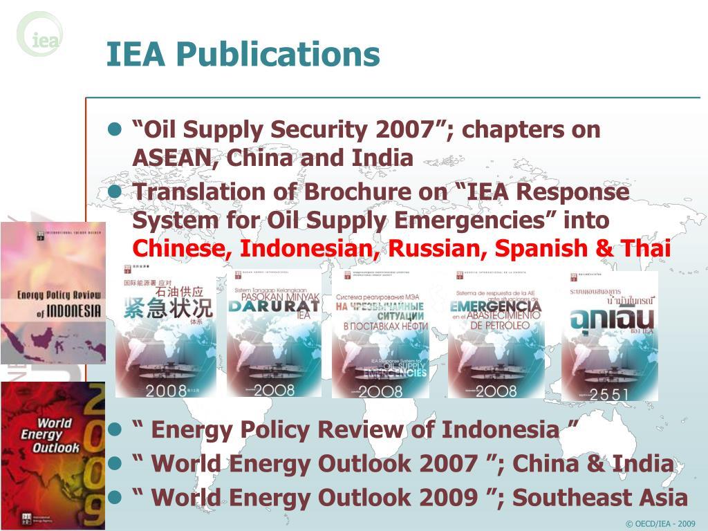 IEA Publications