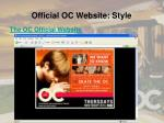 official oc website style