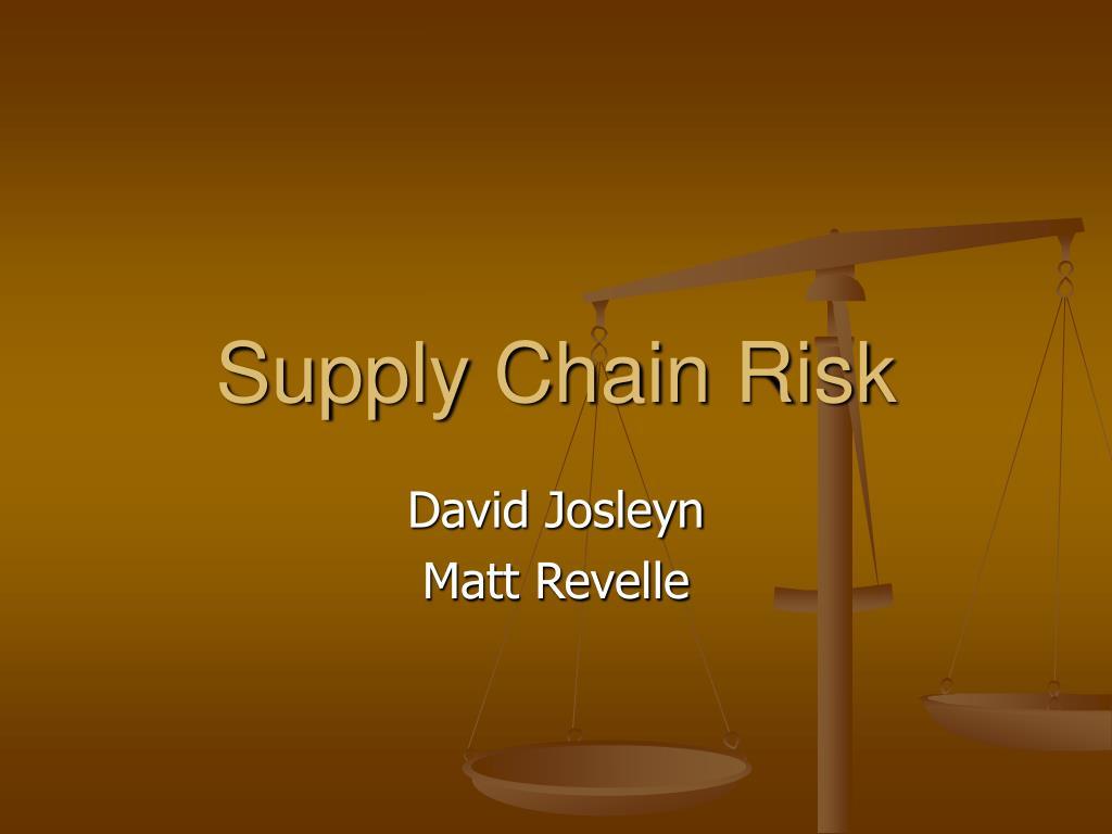 supply chain risk l.