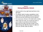 week 6 dining etiquette british