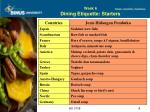 week 6 dining etiquette starters
