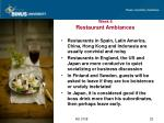 week 6 restaurant ambiances