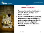 week 6 restaurant behavior