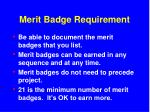 merit badge requirement