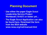 planning document