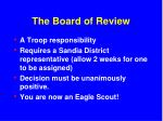 the board of review