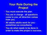 your role during the project