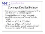 coverage detailed balance