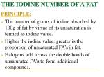 the iodine number of a fat