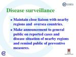 disease surveillance34