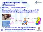 j apanese encephalitis mode of transmission