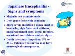j apanese encephalitis signs and symptoms