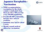 j apanese encephalitis vaccination