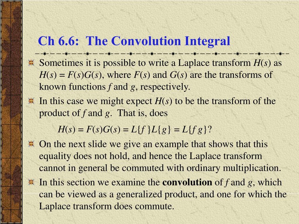 ch 6 6 the convolution integral l.