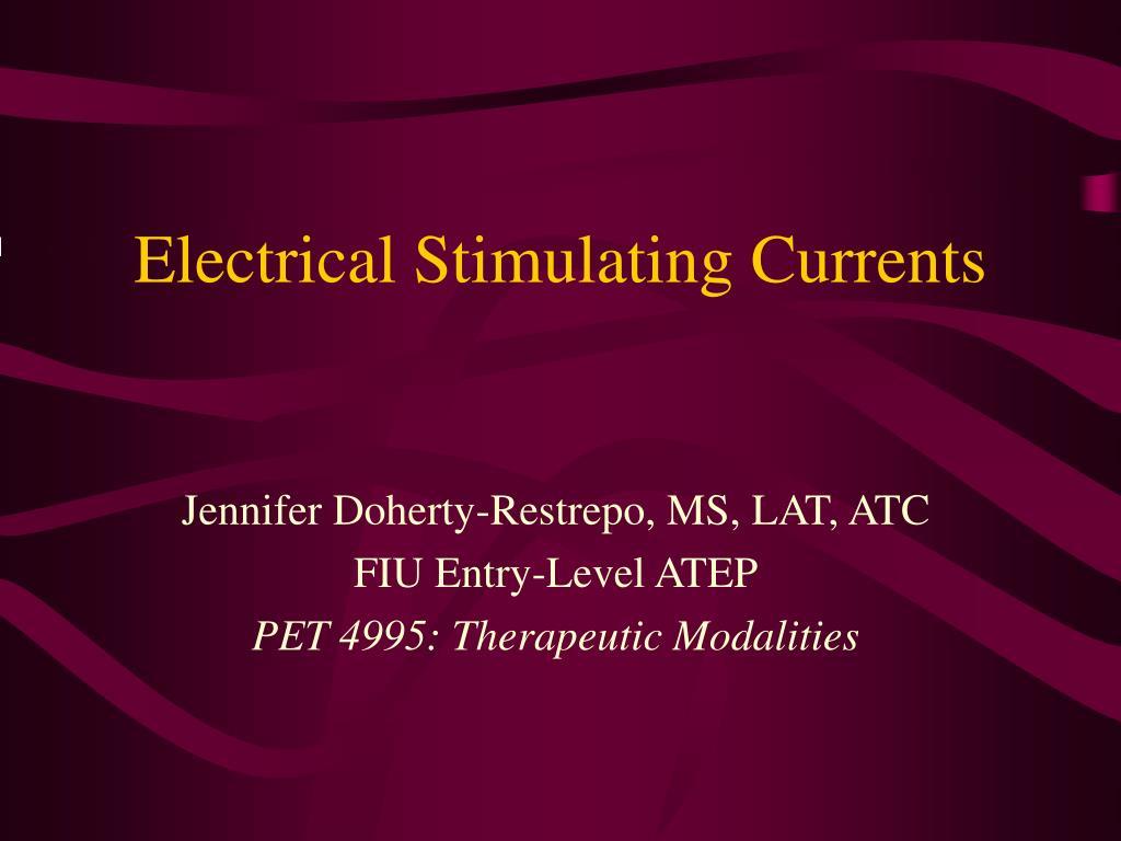 electrical stimulating currents l.