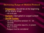 increasing range of motion protocol71