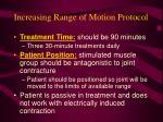 increasing range of motion protocol72