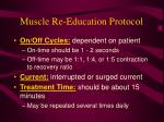 muscle re education protocol53