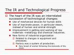 the ir and technological progress