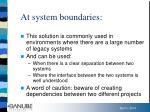 at system boundaries
