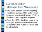 2 asset allocation method of fund management