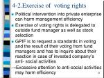 4 2 exercise of voting rights
