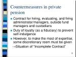 countermeasures in private pension