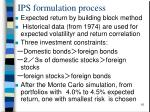 ips formulation process