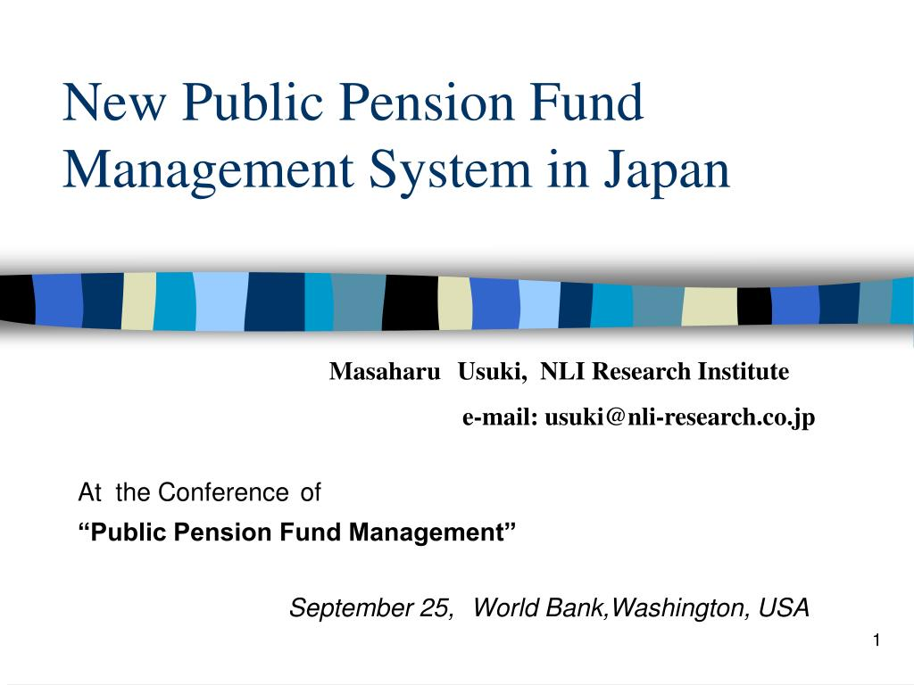new public pension fund management system in japan l.
