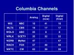columbia channels