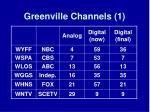 greenville channels 1