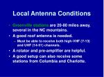 local antenna conditions
