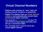 virtual channel numbers